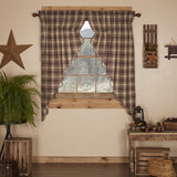 "Dawson Star Scalloped Lined Prairie Curtains 63"" - Primitive Star Quilt Shop"