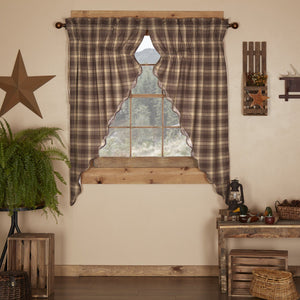 Dawson Star Scalloped Lined Prairie Curtains 63""