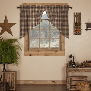 Dawson Star Scalloped Lined Prairie Swag Curtains