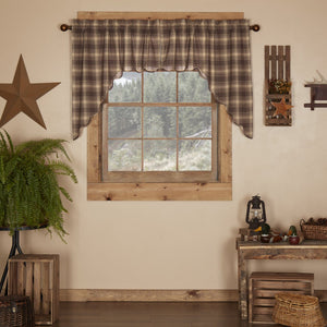 Dawson Star Scalloped Lined Swag Curtains