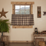 "Dawson Star Scalloped Lined Tier Curtains 24"" - Primitive Star Quilt Shop"