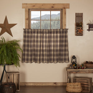 Dawson Star Scalloped Lined Tier Curtains 36""