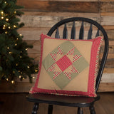 "Dolly Star Patchwork Pillow 18"" Filled - Primitive Star Quilt Shop"