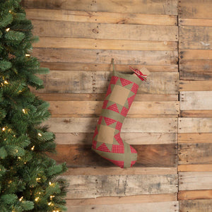 Dolly Star Red Patch Stocking 12x20""