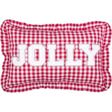 "Emmie Jolly Pillow 14x22"" Filled - Primitive Star Quilt Shop"