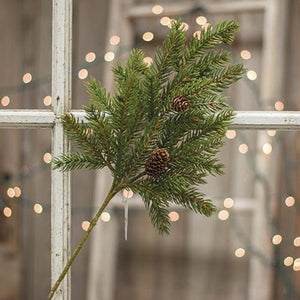 White Spruce with Cones Pick - 16""