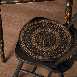 "Farmhouse Star Braided Chair Pad 15"" - Set of 6"