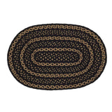 "Farmhouse Star Oval Braided Rug 20x30"" - with Pad - Primitive Star Quilt Shop"
