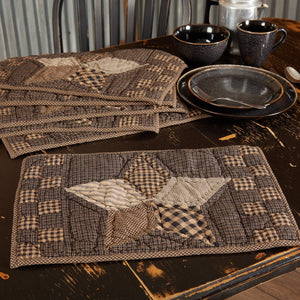 Farmhouse Star Quilted Placemat - Set of 6