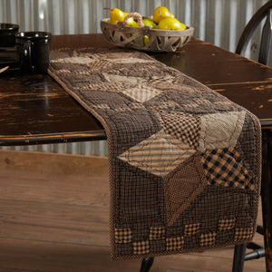 Farmhouse Star Quilted Runner 13x48""