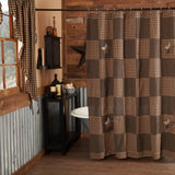 Farmhouse Star Shower Curtain - Primitive Star Quilt Shop