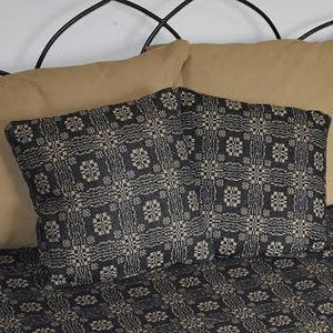 "Gettysburg Black and Tan Woven Pillow 16"" Filled"