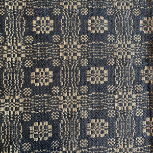 Gettysburg Black and Tan Woven Long Swag Curtain 63""