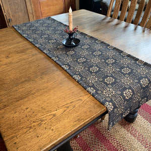 Gettysburg Black and Tan Woven Table Runner 56""