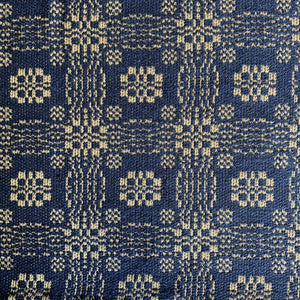 Gettysburg Navy and Creme Woven Table Cloth 52""