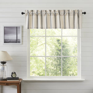 Grace Grain Sack Stripe Lined Valance 60""