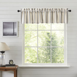 Grace Grain Sack Stripe Lined Valance 72""