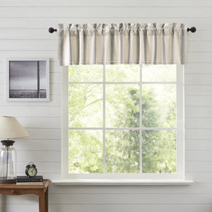 Grace Grain Sack Stripe Lined Valance 90""