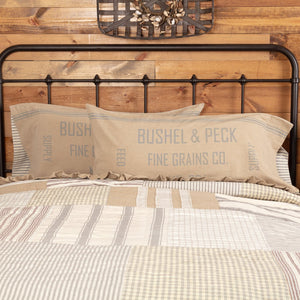 Grace Feed Sack King Pillow Case - Set of 2