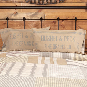 Grace Feed Sack Standard Pillow Case - Set of 2