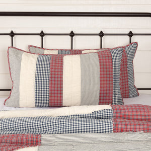 Hatteras Patch Quilted King Sham 21x37""