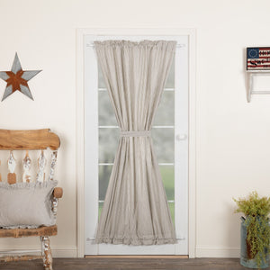 Hatteras Blue Seersucker Lined Door Panel Curtain 72""