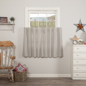 Hatteras Blue Seersucker Lined Tier Curtains 36""