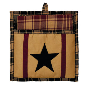 Heritage Star Wine Pot Holder and Tea Towel Set