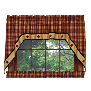 Heritage Star Wine Swag Curtains