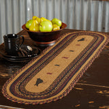 "Heritage Farms Crow Braided Runner 13x48"" - Primitive Star Quilt Shop"