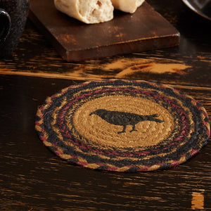 Heritage Farms Crow Braided Trivet 8""