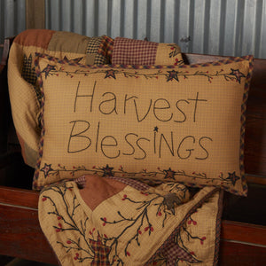 "Heritage Farms Harvest Blessings Pillow 14x22"" Filled"