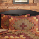 "Heritage Farms Quilted King Sham 21x37"" - Primitive Star Quilt Shop"
