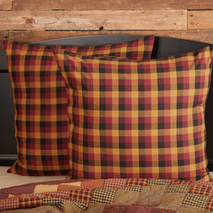 Heritage Farms Primitive Check Fabric Euro Sham 26x26""