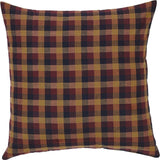 "Heritage Farms Primitive Check Fabric Euro Sham 26x26"" - Primitive Star Quilt Shop"