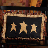 "Heritage Farms Primitive Stars Pillow 14x22"" Filled - Primitive Star Quilt Shop"