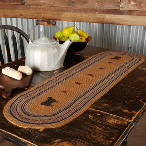 Heritage Farms Sheep Braided Runner 13x48""