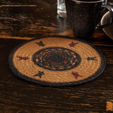"Heritage Farms Star Braided Trivet 8"" - Primitive Star Quilt Shop"