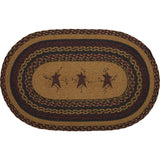 "Heritage Farms Star and Pip Oval Braided Rug 20x30"" - Primitive Star Quilt Shop"
