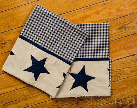 Jamestown Black Pillow Case - Set of 2 - Primitive Star Quilt Shop