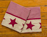 Jamestown Burgundy Standard Pillow Case - Set of 2 - Primitive Star Quilt Shop