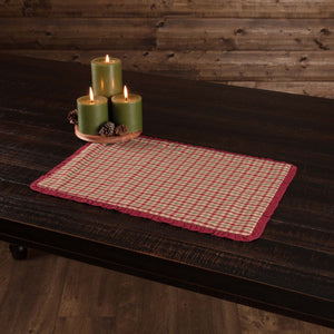 Jonathan Plaid Ruffled Placemat - Set of 6