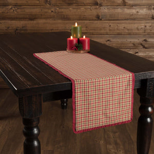 Jonathan Plaid Ruffled Runner 13x36""
