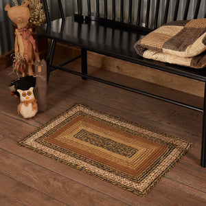 "Kettle Grove Rectangle Braided Rug 20x30"" - with Pad"