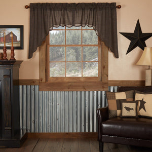 Kettle Grove Scalloped Lined Swag Curtains
