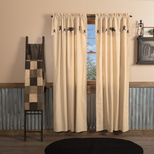 Kettle Grove Lined Panels with Attached Applique Valance 84""