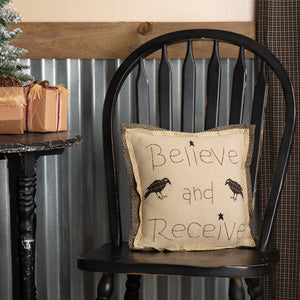 Kettle Grove Believe and Receive Pillow 12""