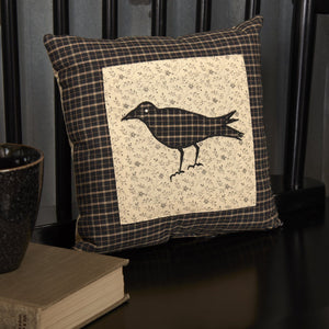 Kettle Grove Crow Pillow 10x10""