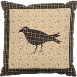 "Kettle Grove Crow Pillow 10x10"" - Primitive Star Quilt Shop"