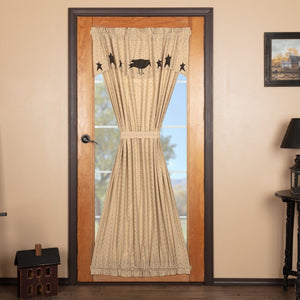 Kettle Grove Lined Door Panel with Attached Valance 72""